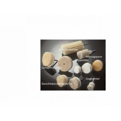 Frimator Nemectron Borstelset: Gezichtsborstel zacht, oogborstel en slijppolster