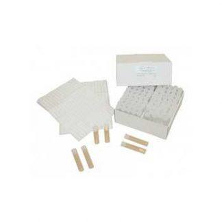 Lege ampullen voor vaste stoffen met dopje per 100 st.
