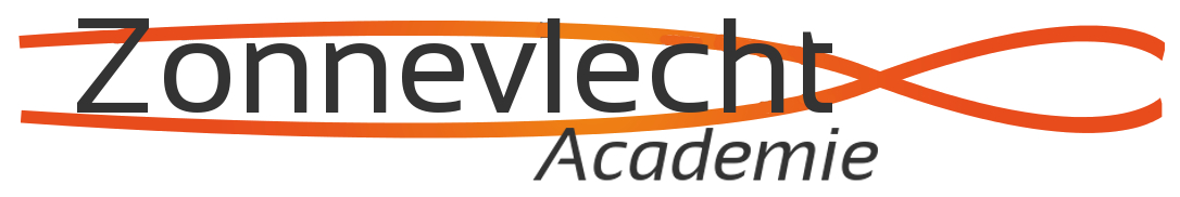 Logo Zonnevlecht Academie - zwart - achtergrond wit